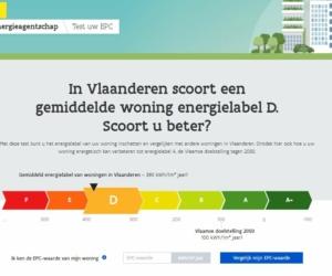 Een screenshot van de website van het Vlaams Energieagentschap