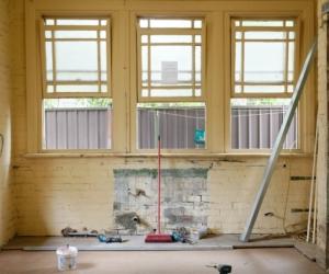Een huis in volle renovatie